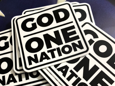 One Nation Under God - Sticker one nation under god patriotic patriotism god america stickers
