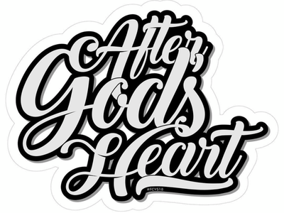After God's Heart - Sticker & Lettering church design sticker lettering