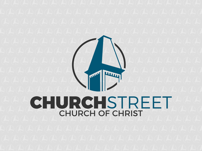 Church Street Church of Christ - Lewisburg, TN vector brand branding logo church design church logo church