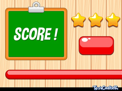Fun Game GUI Elements game gui fun elements cartoon box button star rating wood background