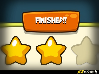 Freebie - Artwesome Mobile Game Gui free vector casual fun cartoon gui game mobile download freebie