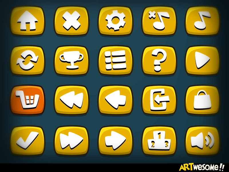 Freebie – Artwesome Mobile Game Icons