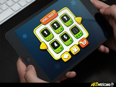 Freebie - Artwesome Mobile Game Level Select level select fun cartoon gui game mobile free download artwesome freebie