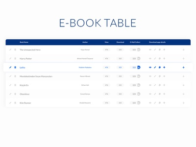 E-Book Table