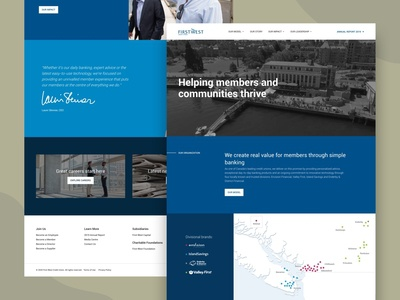 First West Credit Union hero section blue credit hero image hero banner ui illustration homepage design hero homepage ui design ux design design agency ui  ux design iamota