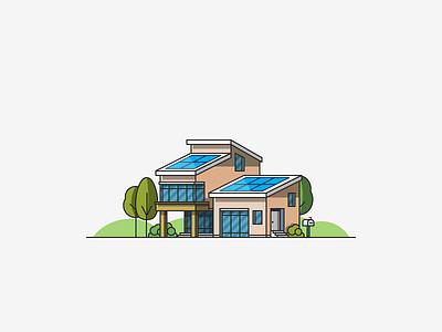 Solar Home panel trees sun environment sustainability solar home house