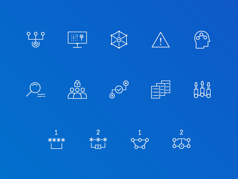 Cyber Security Icon Set by Kyle Goodrich for Voltage Ad on