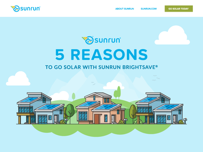 Sunrun Infographic trees sustainability sun solar panel house home environment