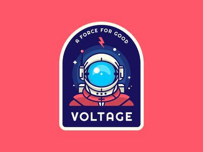 Voltage Astronaut Patch