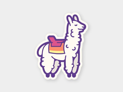 Saddle Up cute ride fur animal outdoors saddle llama