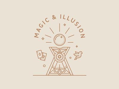 Magic & Illusion altar chest wizard illusion magic illustration cards dove ball crystal