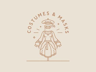Costumes & Masks illustration mask costume castle magic wizard chest
