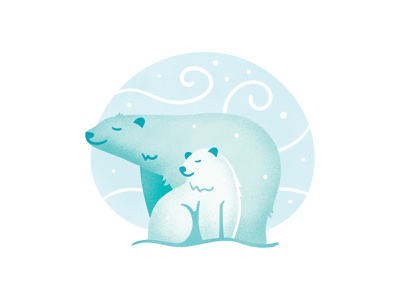 Polar Bears mother nature blizzard arctic mother cub winter snow polar bear