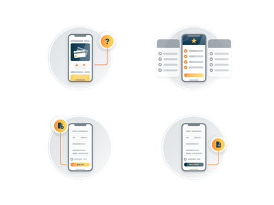 Customer Experience Concepts (Set 2) icons tech mobile ui illustration service experience customer