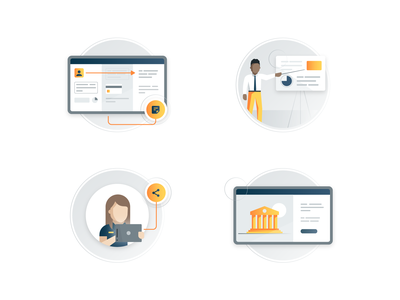 Customer Experience Concepts (Set 3) desktop mobile icons illustrations service ux ui experience customer