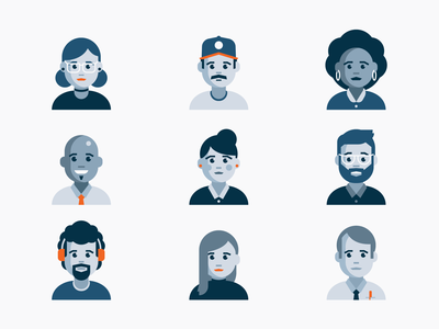 Tech Industry Personas industry personality people company illustration tech personas profiles