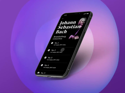 Classical music app concept interaction reactive visualization mobile ui music player app music