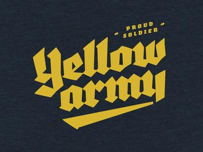 Yellow Army - T-shirt - 0002
