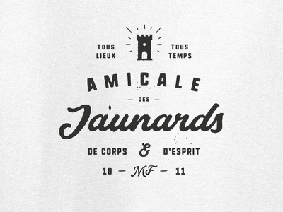 Amicale Jaunards supporter crest rugby