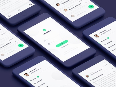 Mailimo branding brand fresh green mail app design ux ui email client email