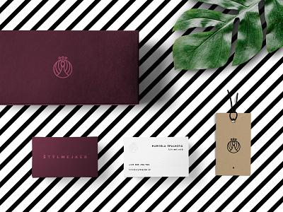 Štýlmejker Visual Identity luxury strokes stripes visual identity peacock stylist fashion brand