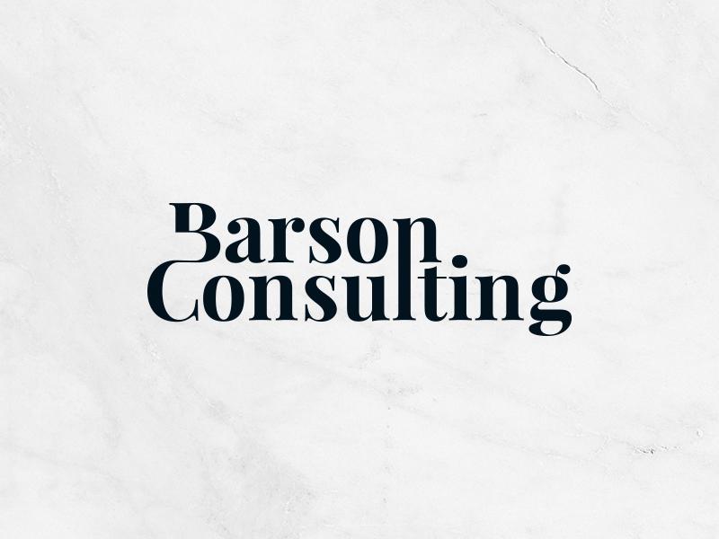 Barson Consulting Logo logodesign swedish consulting design identity logotyp branding logo