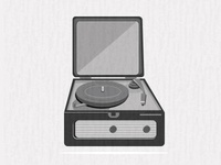 No.4  - Old Record Player - for series of prints