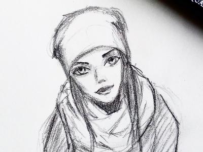 2018 02 24 Girl Face Sketch