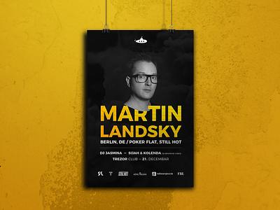 Martin Landsky Poster flyer party event party club sarajevo tanznacht die vibes submarine trezor poster design landsky martin