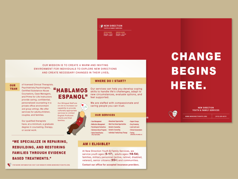 Therapy Brochure print brochure mental health therapy