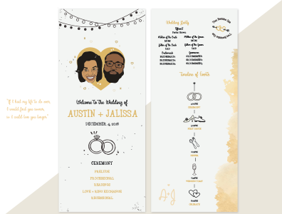 Wedding Programs - #GrierComesTheBride