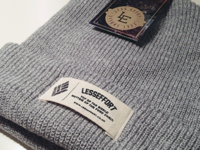 Patch label on beanies