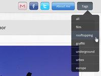 Tumblr Theme tags menu