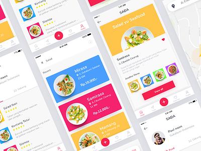 Sada app design color full modern tag menu list food application restaurant clean