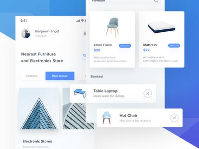 Furniture App Design - #Exploration home properties ux ui mattress ecommerce store chair app design furniture