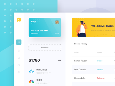 E-money Dashboard App 🍀🍀 bank monitoring emoney tosca yellow card payment activity list dashboard