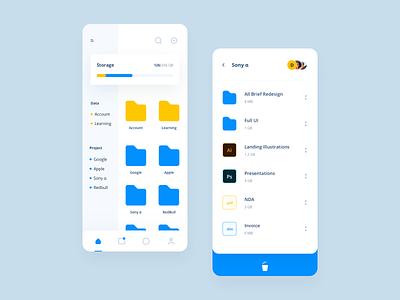 Filema 📁 source team presentation modern dashboard app design activity iphone 11 file file manager