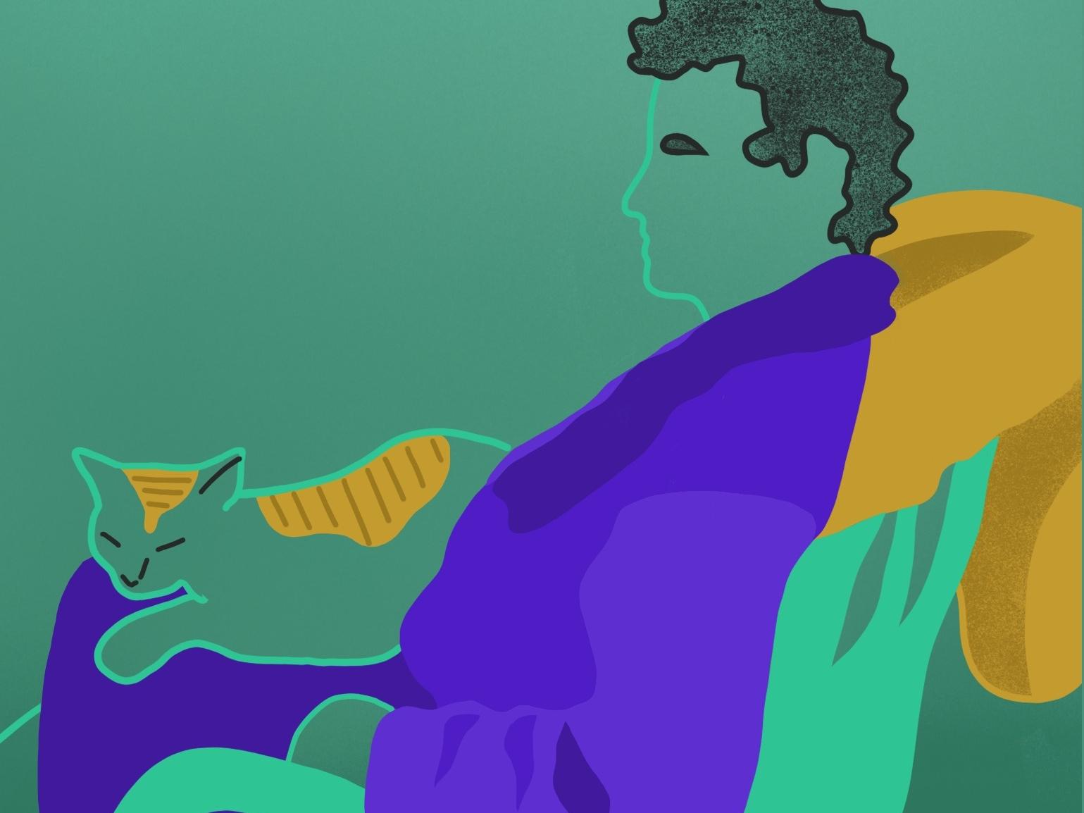 island man island cat adobe draw vector illustration procreate app procreate digital illustrator digital illustration illustration vector sketch design colors