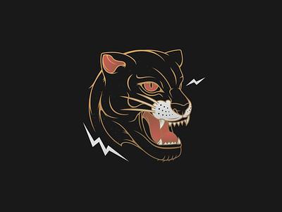 The Prowler fight leopard jaguar animal head badge vector predator hunter cat panther