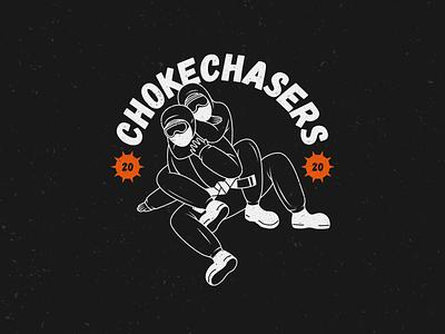 Chokechasers 2020 club mma vector vector illustration merch design covid19 bjj choke coronavirus 2020