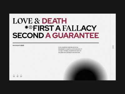 Love and Fall death love banner hero editorial flat light ui web