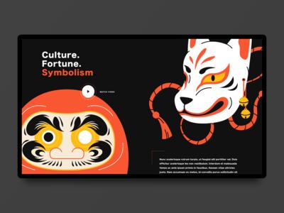 Japanese Symbols Landing Page