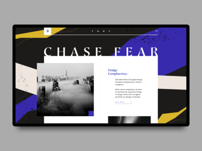 Chase Fear Landing Page