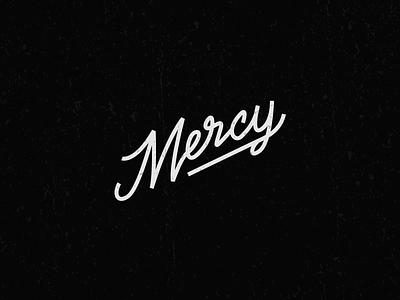 MERCY script cursive type design logo vector typography type mercy