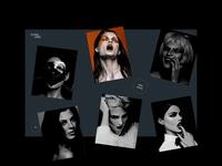 Elena Jasić - Interaction Vol. 2 fashion girl woman interaction grid typography website design sketch creative webdesign interface clean web ux ui portfolio folio photograph photo