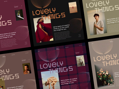 LOVELY THINGS - SQUARE GRID webdesign square fashion girl interaction animation typography website sketch creative web design interface clean web ux ui portfolio grid challenge photo
