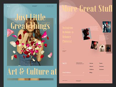 W/2 - Creative Association fashion girl woman interaction typography website sketch creative webdesign interface clean web ux ui portfolio landing page landing photo