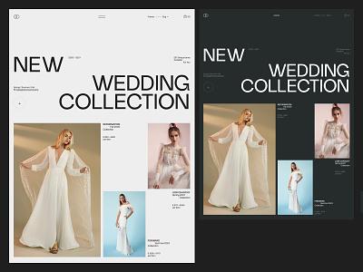 Wedding Store typography website sketch creative webdesign interface clean web ux ui portfolio landing page landing photo bridal wedding fashion girl woman