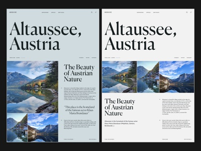 Travel Guide - Layout article layout travel austria interaction typography website sketch creative webdesign interface clean web ux ui portfolio landing page landing photo