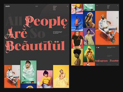 okaybutcolor folio website portfolio grid article layout photographer photo creative design clean webdesign interface ux ui web mobile